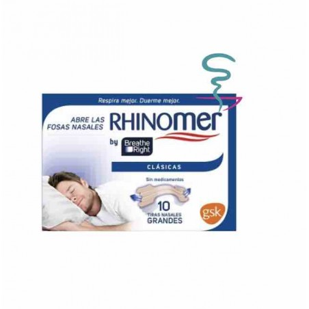 RHINOMER BY BREATHE RIGHT TIRA ADH NASAL CLASICAS 10 U